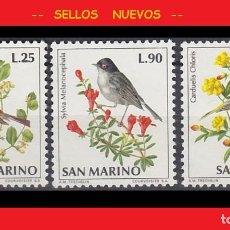 Sellos: LOTE SELLOS NUEVOS NO ENGOMADOS - SAN MARINO - PAJAROS - AHORRA GASTOS COMPRA MAS SELLOS. Lote 191650607