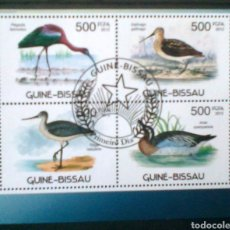 Sellos: AVES ACUÁTICAS HOJA BLOQUE DE SELLOS USADOS DE GUINEA BISSAU. Lote 192270823