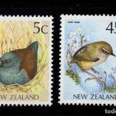 Sellos: NUEVA ZELANDA 1126/27** - AÑO 1991 - FAUNA - AVES . Lote 192815556