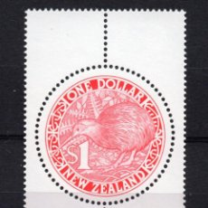 Sellos: NUEVA ZELANDA 1109** - AÑO 1991 - FAUNA - AVES - KIWI. Lote 193134235