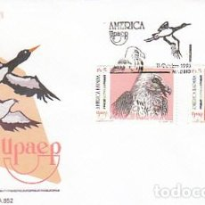 Sellos: DIFIL 3270/1, AVES EN PELIGRO DE EXTINCION: CIGUEÑA NEGRA Y QUEBRANTAHUESOS, PRIMER DIA 11-10-1993. Lote 194065586