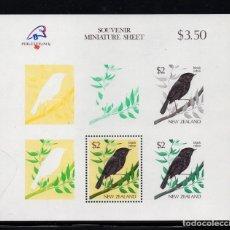 Sellos: NUEVA ZELANDA HB 66** - AÑO 1989 - FAUNA - AVES - PHILEXFRANCE 89, EXPOSICION FILATELICA MUNDIAL. Lote 194074391