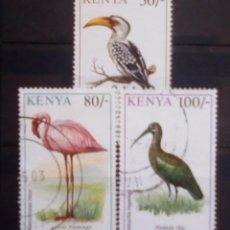 Sellos: AVES SERIE DE SELLOS USADOS DE KENIA. Lote 194393087