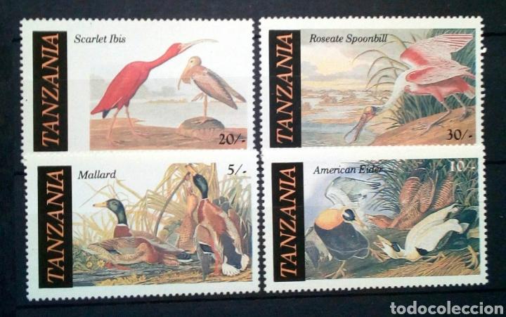 AVES SERIE COMPLETA DE SELLOS NUEVOS DE TANZÀNIA (Sellos - Temáticas - Aves)