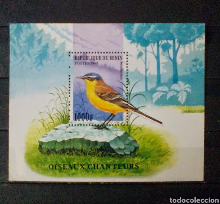 AVES HOJA BLOQUE DE SELLOS NUEVOS DE BENIN (Sellos - Temáticas - Aves)