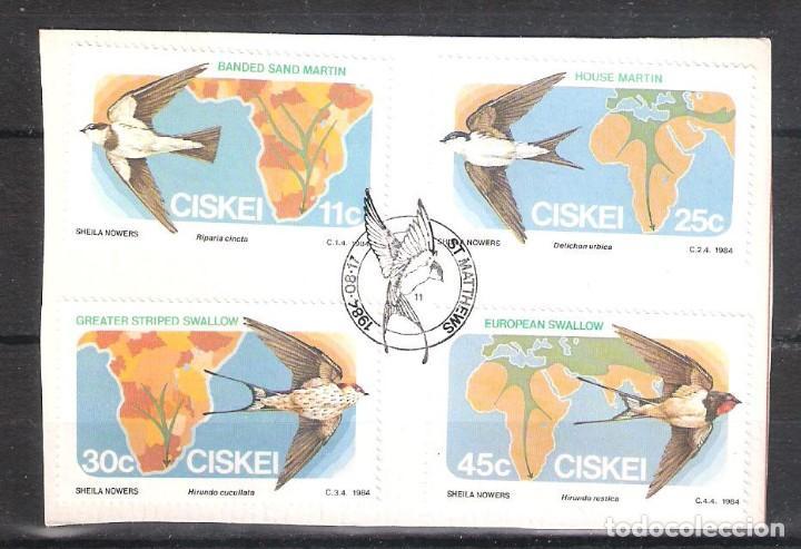 CISKEI (REP. SUDAFRICANA) Nº 61/64º AVES MIGRADORAS. SERIE COMPLETA (Sellos - Temáticas - Aves)
