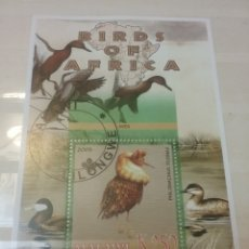 Timbres: HB DE MALAWI MTDOS/2005/PAJAROS/AVES/AFRICA/FAUNA/FLORA/ANIMALES/PATO/. Lote 197152832