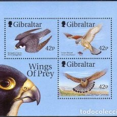 Sellos: SELLOS GIBRALTAR 1999 WINGS OF PREY AVES DE PRESA. Lote 199736183