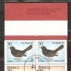 Sellos: SUECIA.1970. CARNET .C673. AVES . PÁJAROS. FAUNA. Lote 202001386