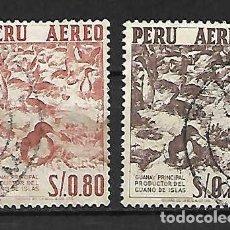 Sellos: AVES (CORMORANES) DE PERÚ. Lote 205881263