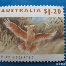 Sellos: +AUSTRALIA 1993, CACATUA ROSA. Lote 206524217