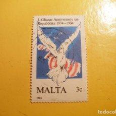 Sellos: MALTA 1984 - LA PALOMA.. Lote 207001305
