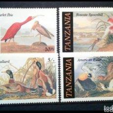 Sellos: AVES SERIE COMPLETA DE SELLOS NUEVOS DE TANZANIA. Lote 207263692