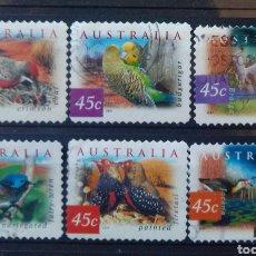 Timbres: AUSTRALIA AVES SERIE DE SELLOS USADOS. Lote 210119065