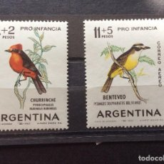 Sellos: ARGENTINA Nº YVERT 679 + A 96*** AÑO 1963. AVES. Lote 213512442