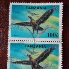 Sellos: TANZANIA AGUILA BLOQUE DE 2. Lote 215307788
