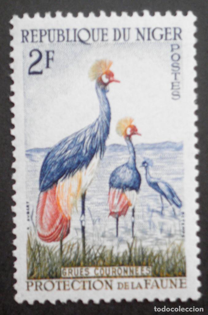 1959-1960 NÍGER PROTECCIÓN DE LA FAUNA (Sellos - Temáticas - Aves)