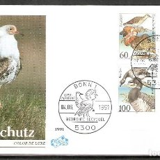 Sellos: ALEMANIA FEDERAL.1991. FDC. MI 1539/1542. AVES. Lote 221397097