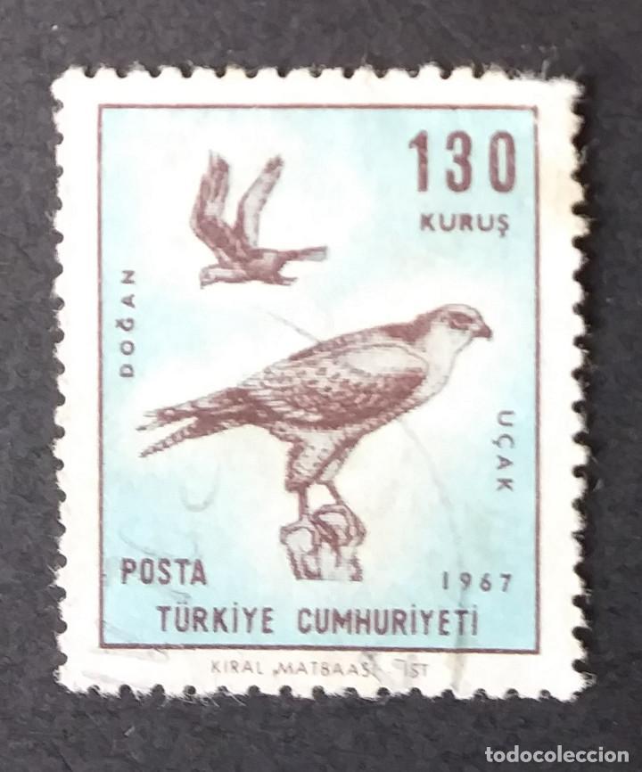 1967 TURQUÍA AVES DE PRESA FALCO CHERRUG (Sellos - Temáticas - Aves)