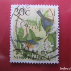 Sellos: +NUEVA ZELANDA, 1988, AVES, YVERT 1013. Lote 222700100