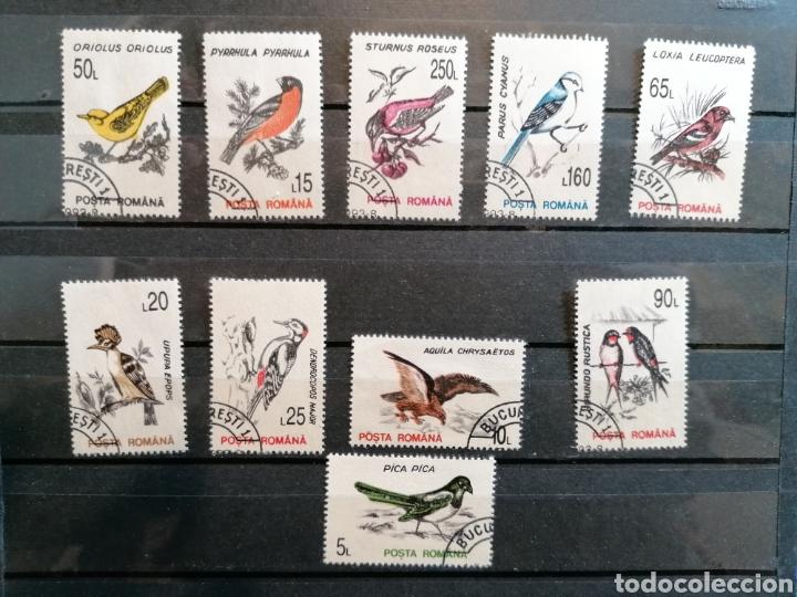 RUMANÍA AVES PÁJAROS AÑO 1993 YVERT 4065/74 USADO SERIE COMPLETA (Sellos - Temáticas - Aves)
