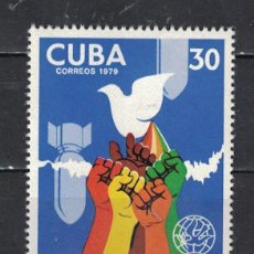 Sellos: 2415 CUBA 1979 MNH THE 30TH ANNIVERSARY OF THE WORLD PEACE COUNCIL. Lote 226333490