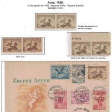 Sellos: KOL-CU26 CUBA 1956 MNH BIRDS. Lote 226334026