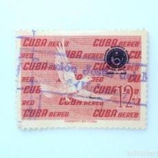 Sellos: SELLO POSTAL CUBA 1960, 12 ¢, PALOMA LLANA, USADO. Lote 230322965