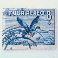 Sellos: SELLO POSTAL CUBA 1956, 8 ¢, PATO DE MADERA - AIX SPONSA, USADO. Lote 230647220