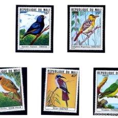 Sellos: REPUBLIQUE DU MALI - AVES - SERIE COMPLETA NUEVA - 5 VALORES. Lote 231127400