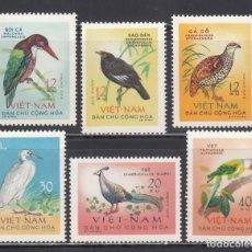 Sellos: VIETNAM DEL NORTE. 1963 YVERT Nº 333 / 338 /**/, AVES. Lote 232490873
