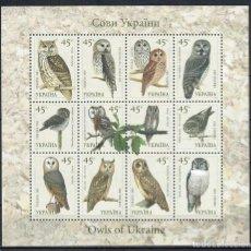 Sellos: UKRAINE 2003 СОВЫ УКРАИНЫ MNH - OWLS. Lote 241497700