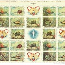 Sellos: CUBA 1961 CHRISTMAS MNH - BIRDS, CHRISTMAS, SNAILS. Lote 241498165