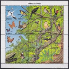 Sellos: F-EX20083 DOMINICA 1988 MNH BIRD AVES PAJAROS OISEAUX VÖGEL 2 FIJASELLOS DEBAJO. Lote 244622540