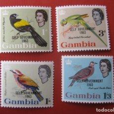 Sellos: GAMBIA, 1963, GOBIERNO AUTÓNOMO, SELLOS SOBRECARGADOS YVERT 181/84. Lote 245409885