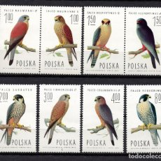 Timbres: POLONIA 2191/98** - AÑO 1974 - FAUNA - AVES. Lote 251016540