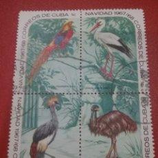 Sellos: SELLO R. CUBA MTDOS/+/- S. BISAGRA/1967/NAVIDADES/PAJAROS/AVES/ZOO/HABANA/ANIMALES/GUACAMAYO/FAUNA/F. Lote 254059025