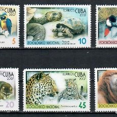 Sellos: ⚡ DISCOUNT CUBA 2007 ANIMALS IN THE NATIONAL ZOO NG - ANIMALS, TURTLES, MONKEYS, PARROTS. Lote 255634985