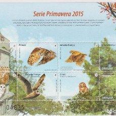 Sellos: ⚡ DISCOUNT URUGUAY 2015 BIRDS - OWLS MNH - BIRDS, OWLS. Lote 260586085