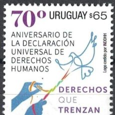 Sellos: ⚡ DISCOUNT URUGUAY 2018 70TH ANNIVERSARY OF THE UNIVERSAL DECLARATION OF HUMAN RIGHTS MNH -. Lote 260587025
