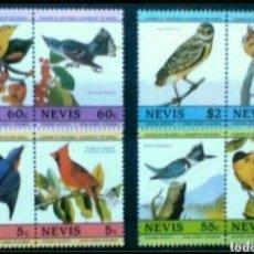 Francobolli: AVES SERIE DE SELLOS NUEVOS DE NEVIS. Lote 261899155