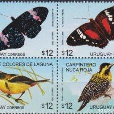Sellos: ⚡ DISCOUNT URUGUAY 2009 BIRDS & BUTTERFLIES MNH - BIRDS, BUTTERFLIES. Lote 262871910