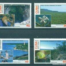 Sellos: ⚡ DISCOUNT CUBA 2016 DESEMBARCO DEL GRANMA NATIONAL PARK MNH - FLORA, FLOWERS, BIRDS, FAUNA. Lote 266184578