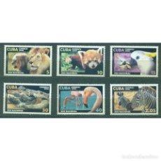 Sellos: ⚡ DISCOUNT CUBA 2008 HAVANA ZOO NG - FAUNA, LIONS, CROCODILES, PARROTS, ZEBRAS. Lote 268834014