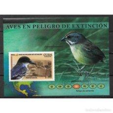Sellos: ⚡ DISCOUNT CUBA 2018 ENDANGERED BIRDS MNH - BIRDS. Lote 268834269
