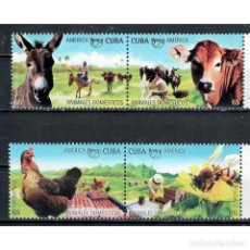 Sellos: ⚡ DISCOUNT CUBA 2018 UPAEP - DOMESTIC ANIMALS MNH - HEN, COWS, HORSES, PETS, THE BEES. Lote 268834299