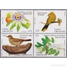 Sellos: ⚡ DISCOUNT URUGUAY 2010 PLANTS AND BIRDS MNH - FLORA, BIRDS. Lote 270390923