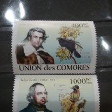 Sellos: SELLO COMORAS (I. COMORES) NUEVO/2008/ORNITOLOGOS/CUERVO/AVE/PARAISO/ANIAMLES/FAUNA/PAJARO/LEER DESC. Lote 277061513
