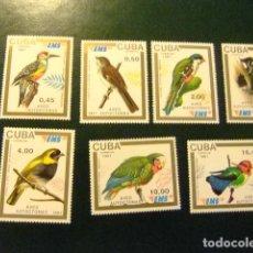 Sellos: CUBA 1991 FAUNE PAJAROS OISEAUX BIRDS YVERT 3133 /3139 ** MNH. Lote 277517098