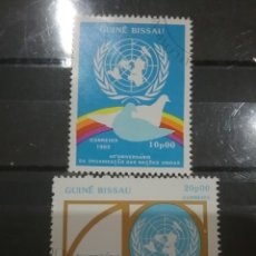 Sellos: SELLO GUINEA BISSAU MTDOS(6 DE 7V)/1985/60ANIV/NACIONES/UNIDAS/PALOMA/AVES/PAJARO/EMBLEMA/LAUREL/GLO. Lote 277636723